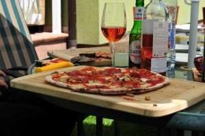 pizza and wine...perfect