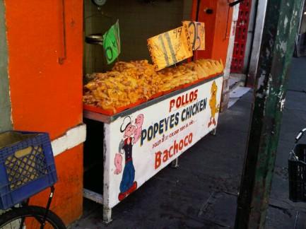 Foodie man eats in Mexic